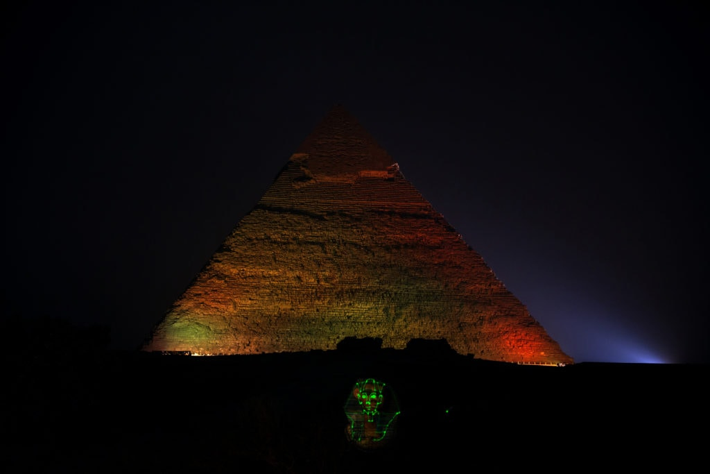 Sites and Sounds show at the Pyramids