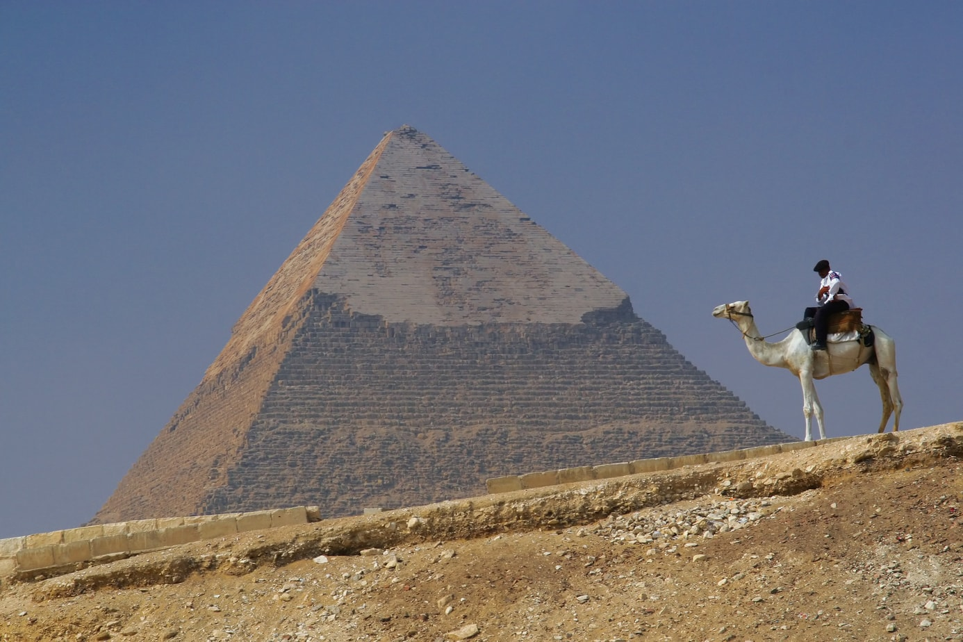 Egyptian Police at Giza Pyramids