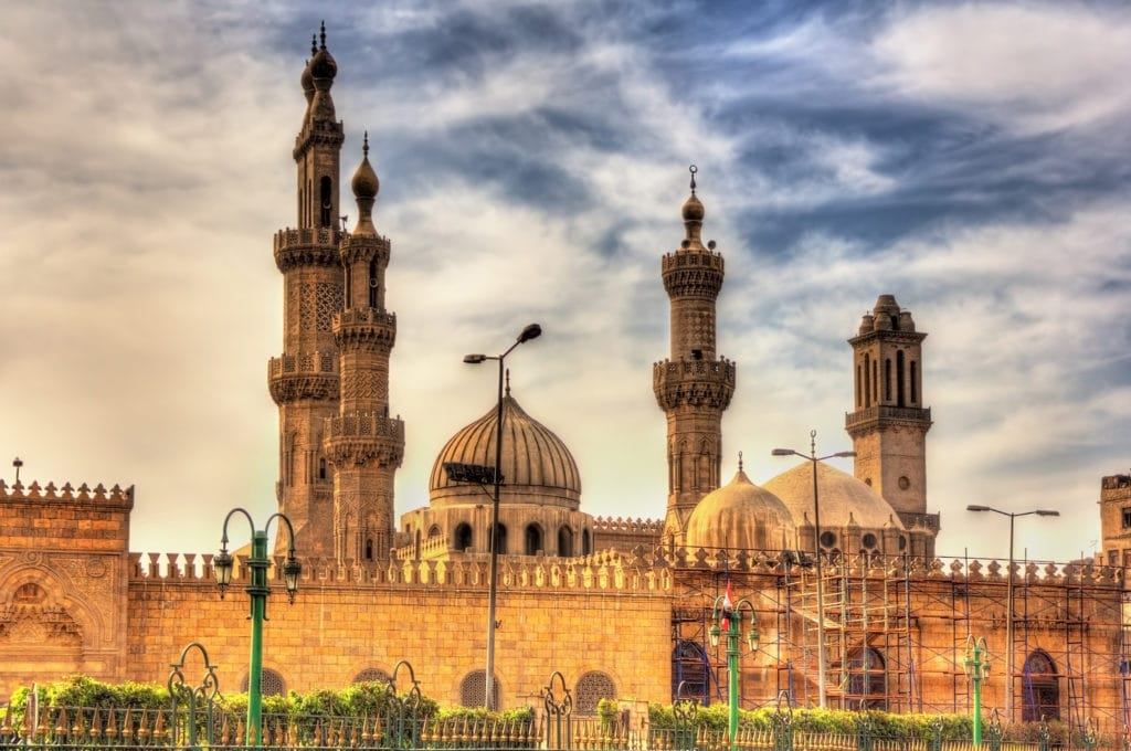 Al Azhar Mosque in Cairo Eypt