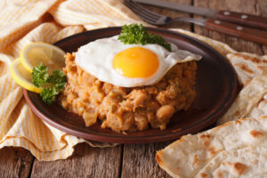 Ful Medames with Eggs