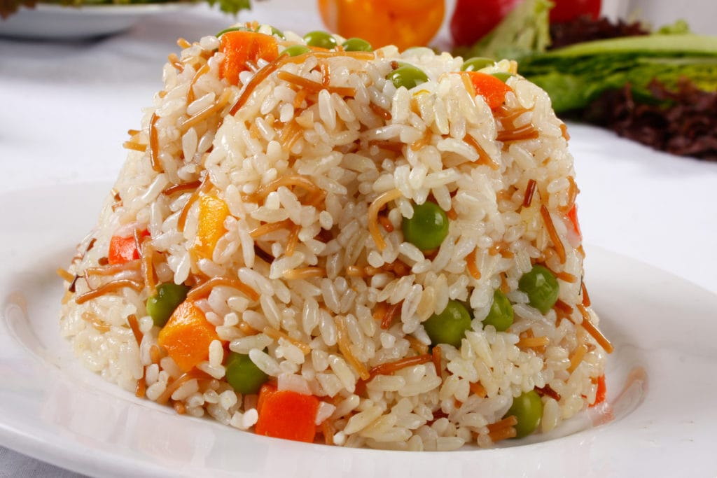 Egyptian Rice with Green Peas