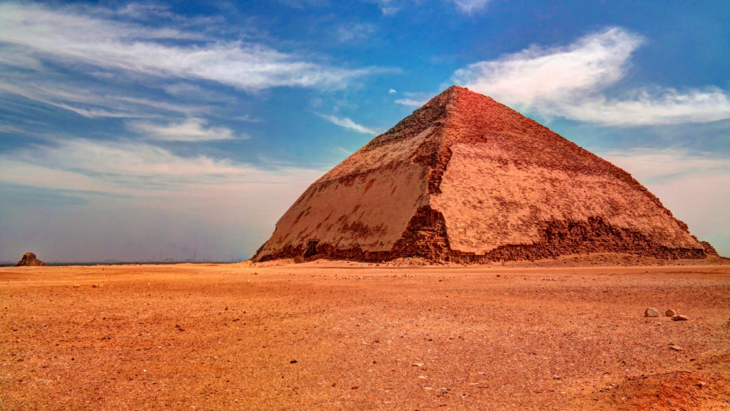 Egyptian Bent Pyramid of Sneferu Pharao at Dahsur, Cairo Egypt