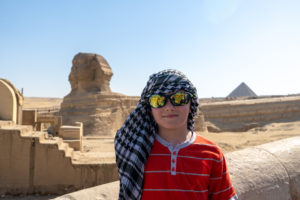 In front of the Great Sphinx