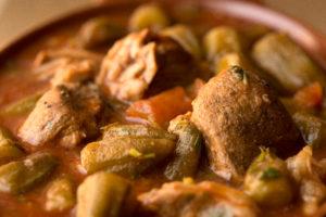 Egyptian Food Fact: Bamia (or Bamya) is an Egyptian staple food