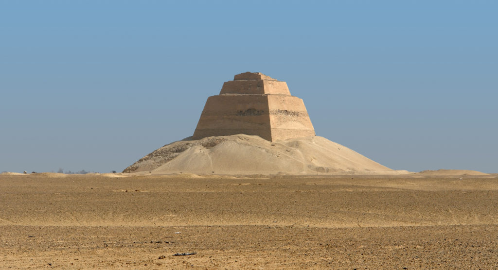 Meidum  (or Maydum) Pyramid in Egypt