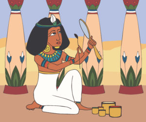 Ancient Egyptian Girl Wearing Makeup