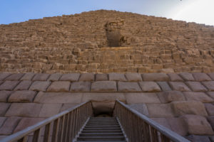 The Entrance of Menkaure Pyramid in Giza Egypt