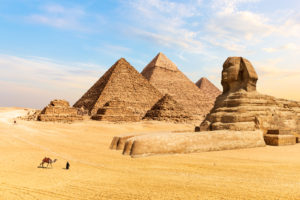 Egyptian Pyramids of Giza and the Great Sphinx