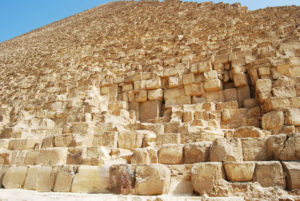 Stones of the Great Pyramid in Giza (Khufu)