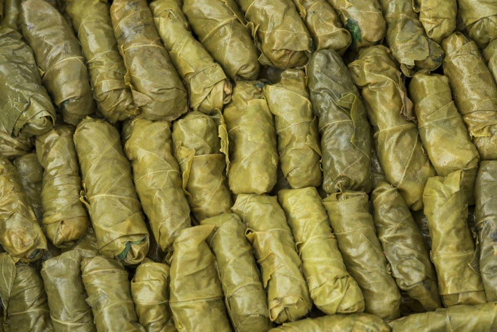 Waraq (or Warak)  Inab ( or Enab) (Stuffed Vine Leaves)