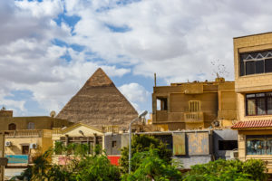 Khafre view Giza from Cairo city