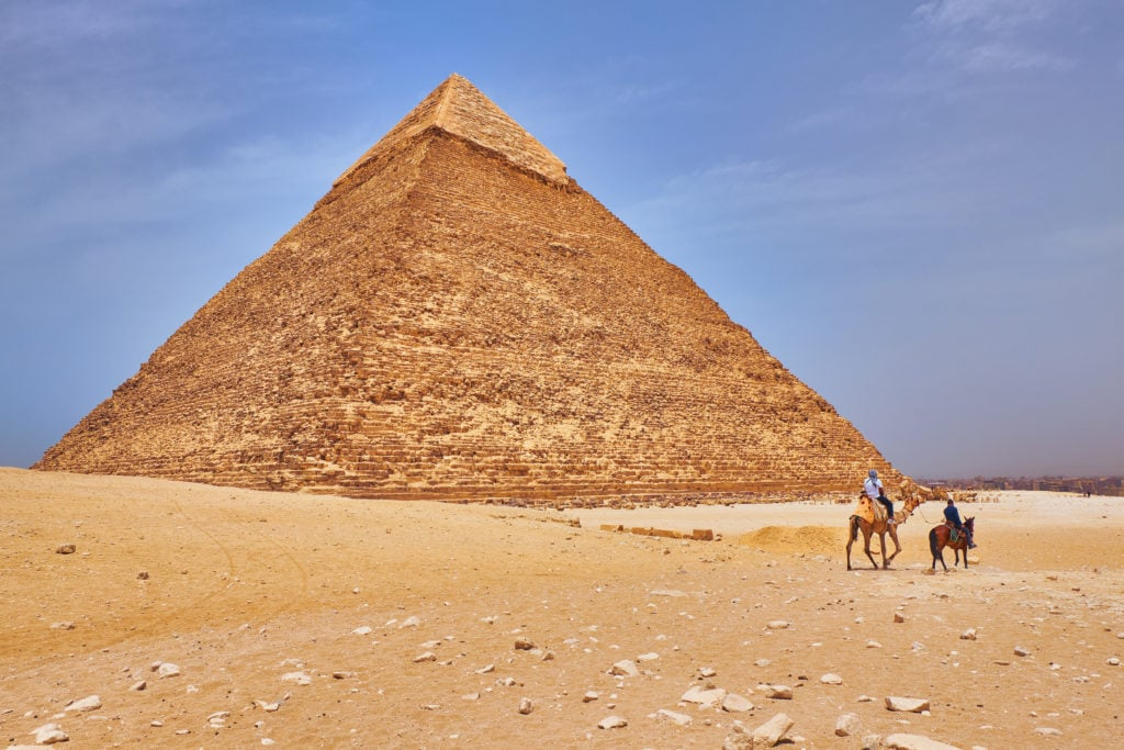 The Egyptian second largest pyramid: Pyramid of Khafre or Khafra (Pyramid of Chephren)