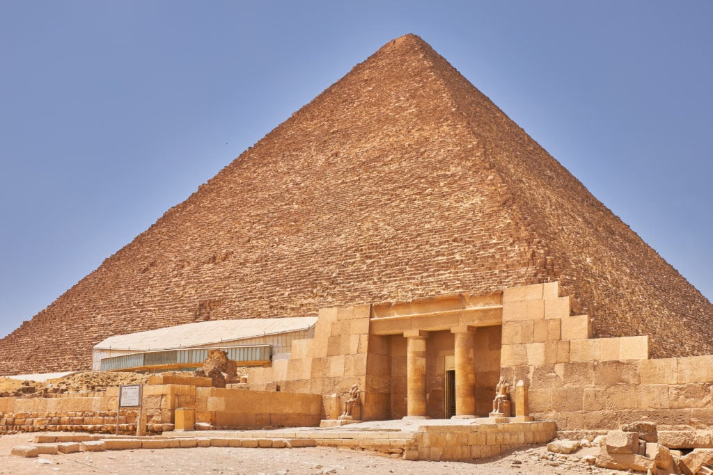 Egyptian Great Pyramid of Giza (Khufu or  Cheops): It is the oldest and largest of the three pyramids