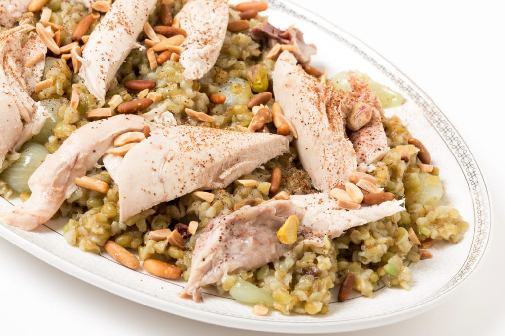 Egyptian Chicken with Freekeh Dish