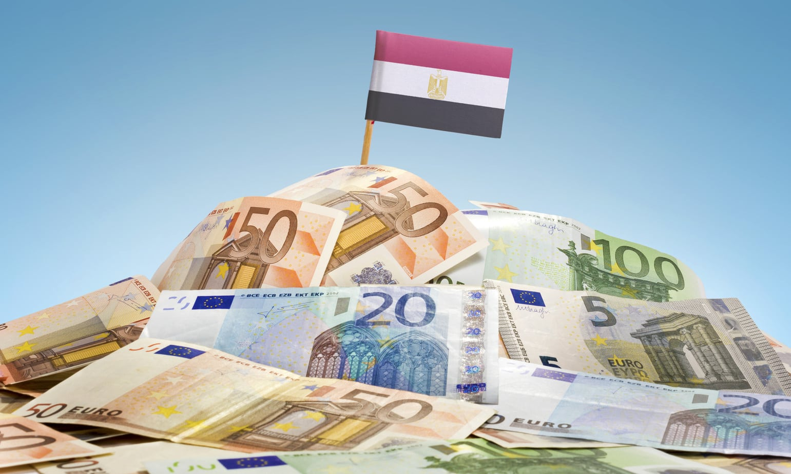 Egyptian Flag and Currencies