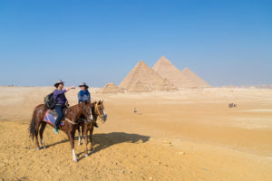 Horseback Riding at The Egyptian Pyramids in Giza