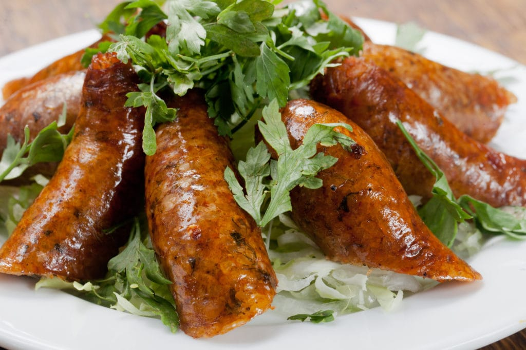 Egyptian Mombar (Rice-stuffed sausages)