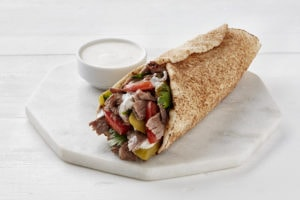Shawarma Wrap in Arabic Flat Bread