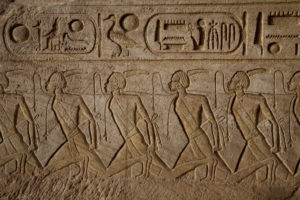 Ancient Egypt Carving on stone showing slaves