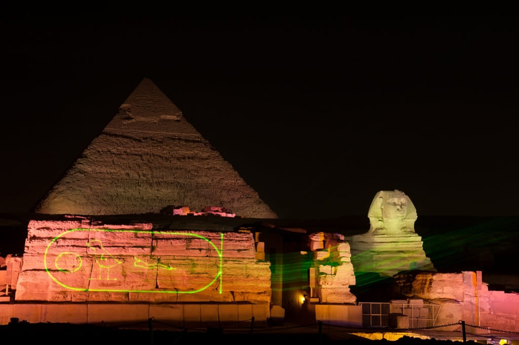Giza Pyramids Sound and Light show