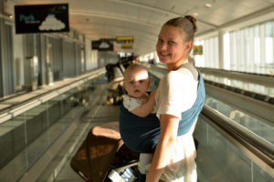Use Baby Carrier at airports or during city walks to free your hands