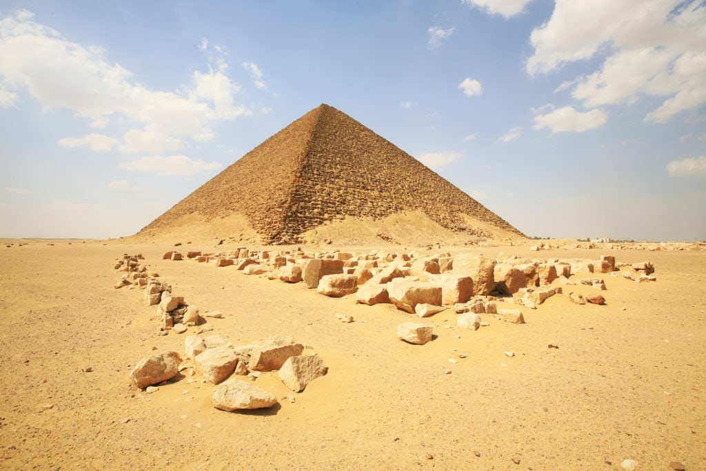 Red Pyramid of Sneferu in Egypt
