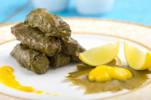 Waraq (or Warak)  Inab ( or Enab) (Stuffed Vine Leaves)