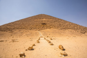 Red Pyramid is the third largest pyramid in Egypt after the Khufu and Khafre pyramids