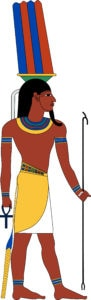 Egyptian God Onuris (or Anhur, An-Her, Anhuret, Han-Her, Inhert.)