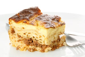 Egyptian Bechamel Macaroni stuffed with ground  with Meat