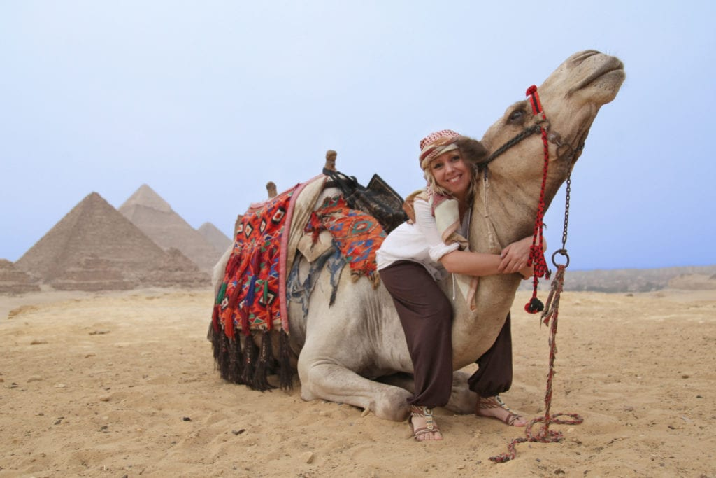 Camel Riding at the Giza Pyramids in Egypt