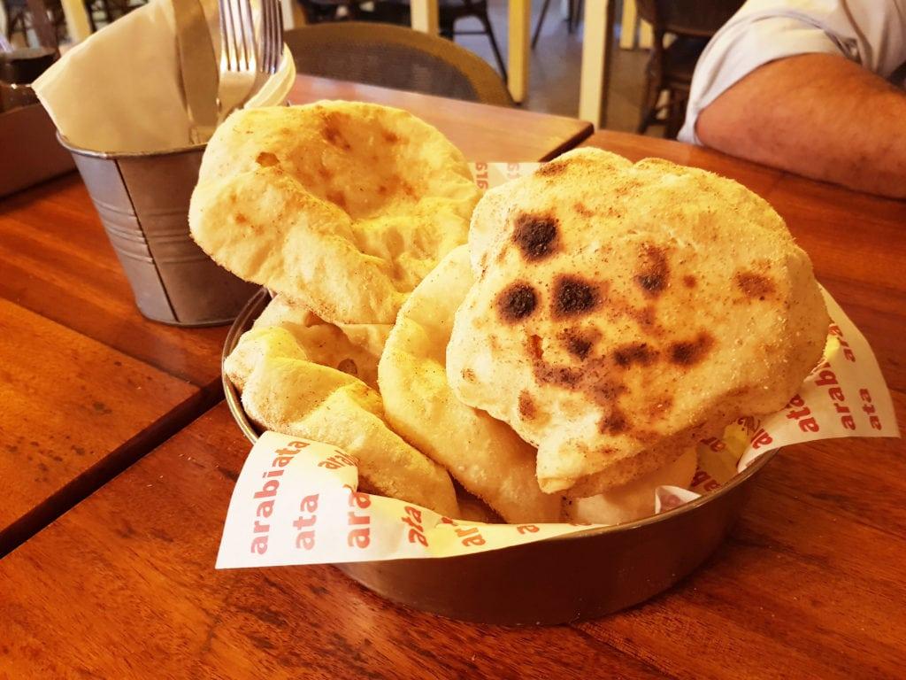 Egyptian Bread (Baladi) is freshly baked in store - Arabiata - New Cairo - Egypt