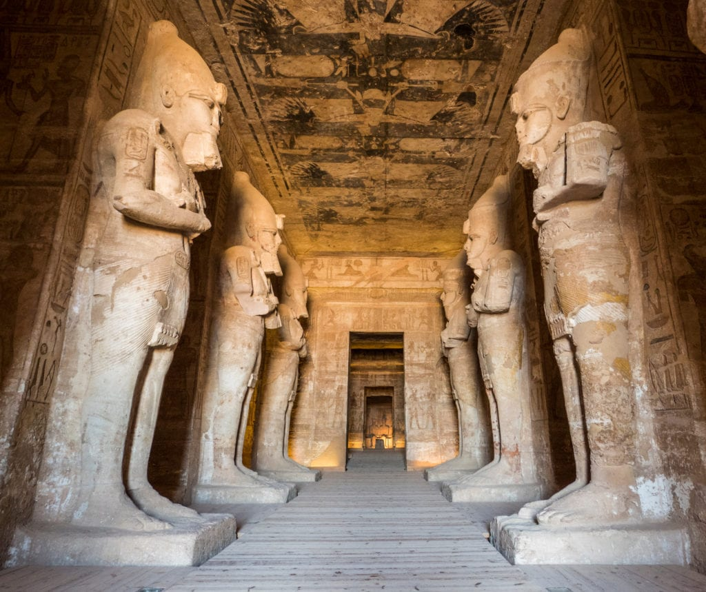 Abu Simbel Temple Interior, - Egypt