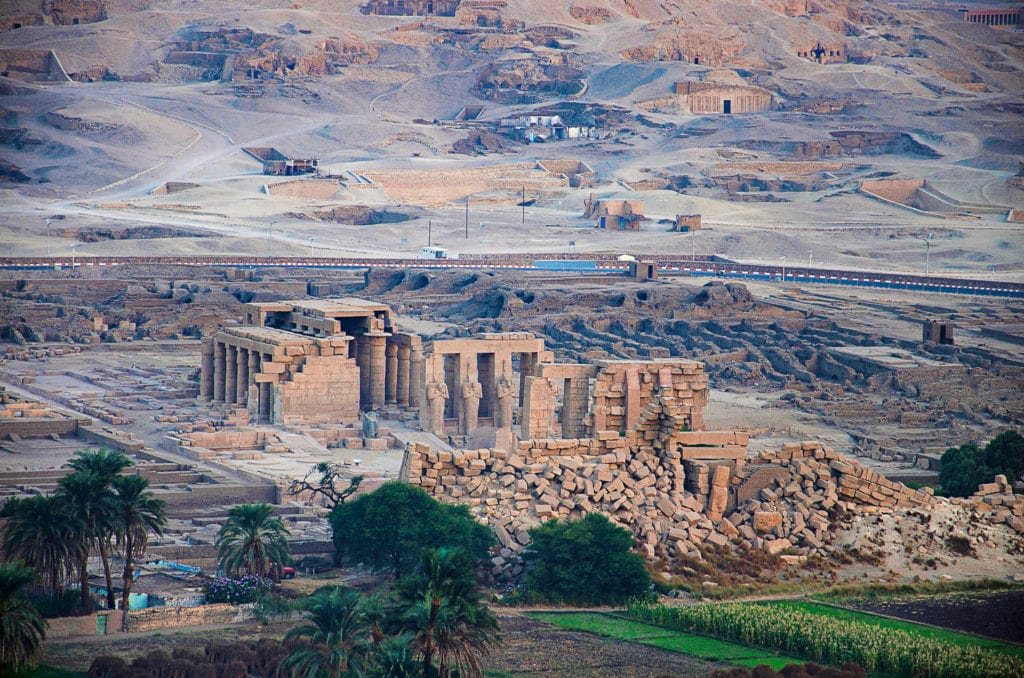 Ramses the II Temple of Ramesseum in Ancient Thebes or today's Luxor - Egypt