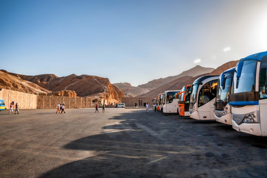 Bus Stop / Station at the Valley of Kings - Luxor - Egypt