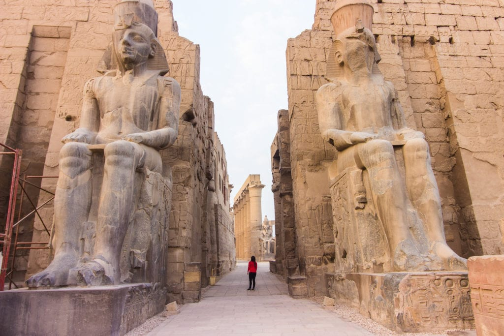Entering Luxor Temple - Egypt