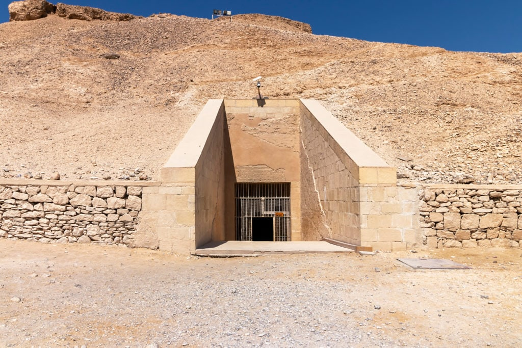 The Valley of the Kings - Entrance to the Tomb of Ramesses IV - Egypt