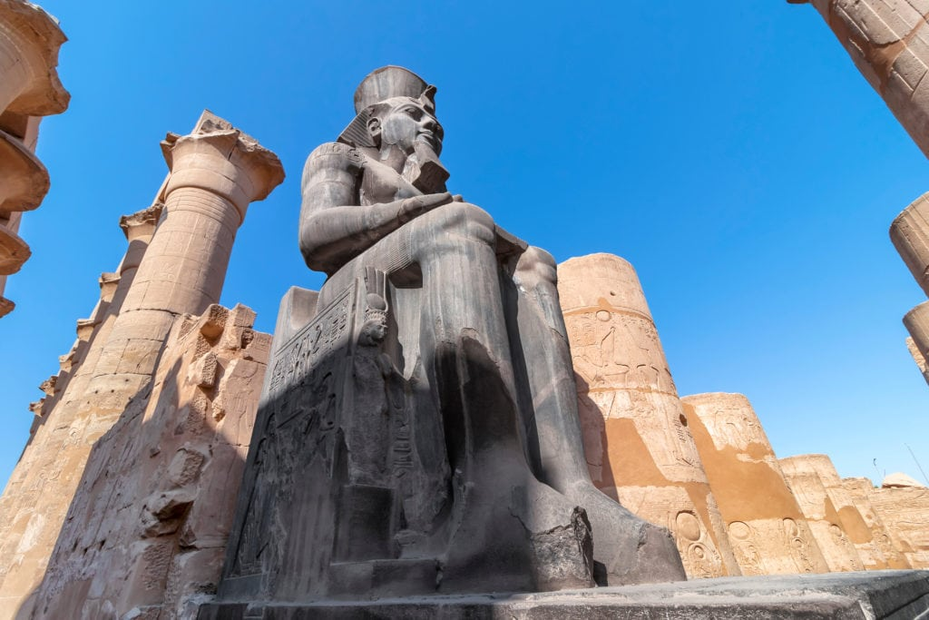 Ramesses II statue -  Luxor Temple - Egypt