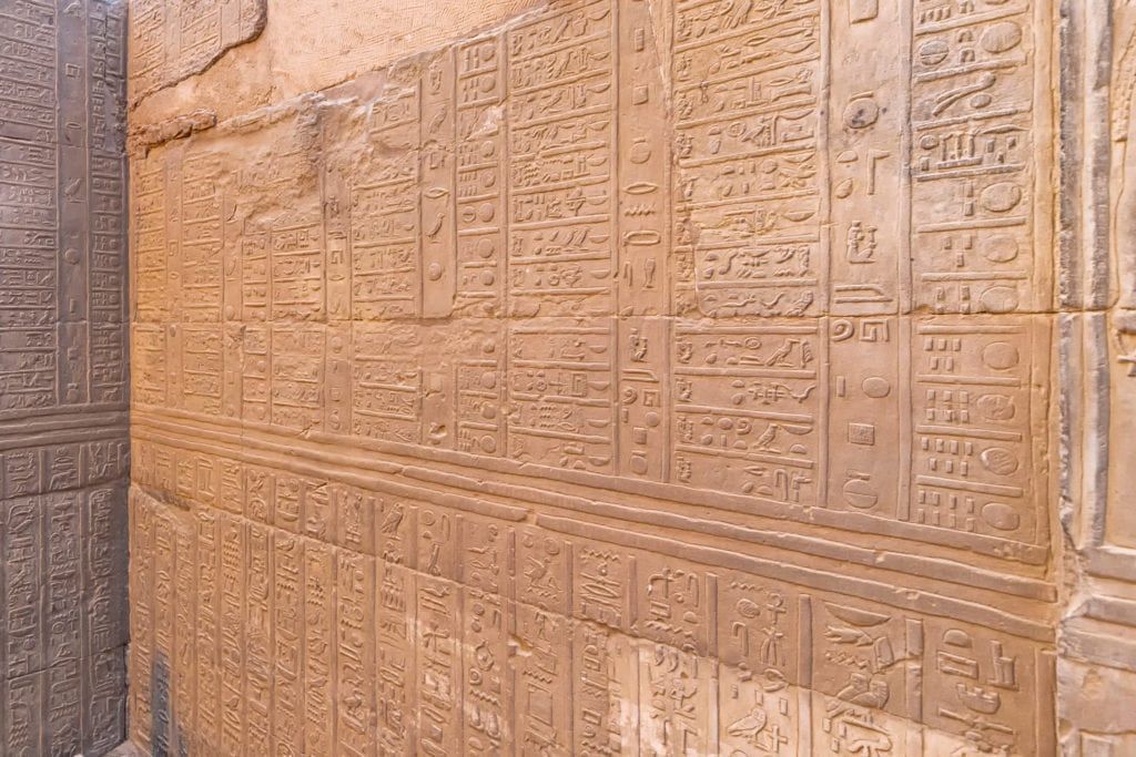 Writings on Walls of Kom Ombo Temple