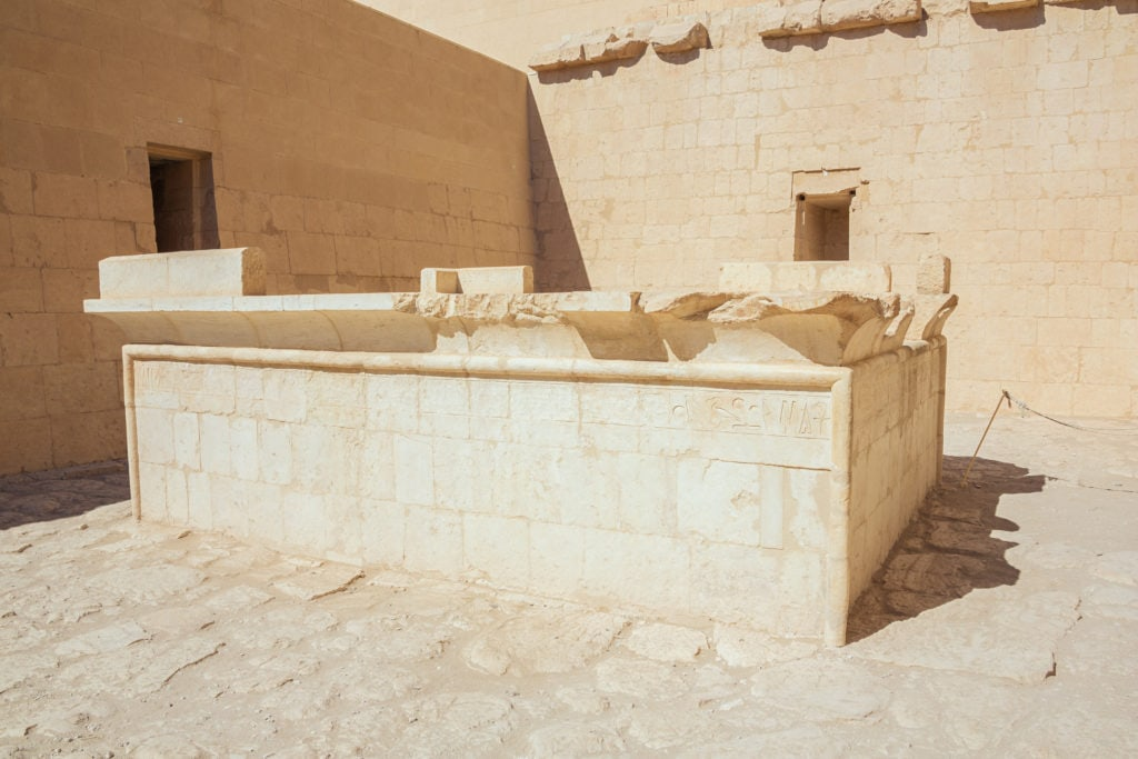 Solar Cult Complex room at Queen Hatshepsut Temple - Luxor - Egypt