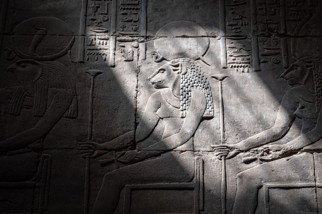 Edfu Temple - The lion Head goddess Sejmet -  Egypt