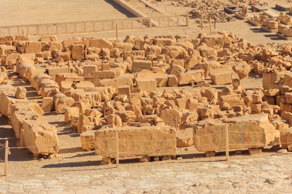 Excavation Site at Hatshepsut in Deir el-Bahri - Luxor - Egypt