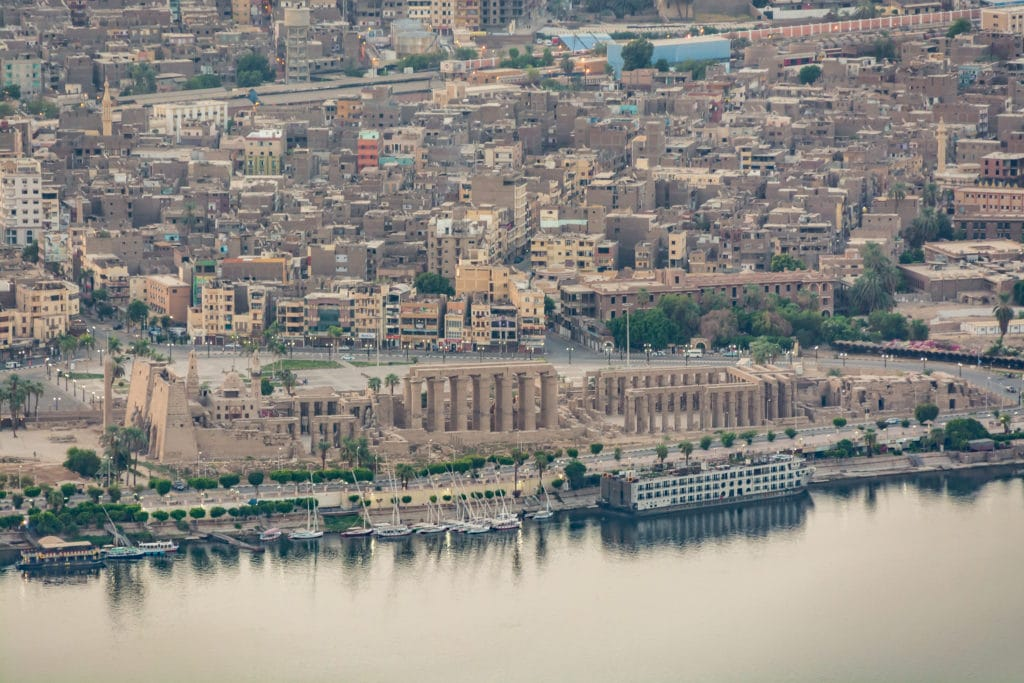 Luxor City and Luxor Temple - Egypt