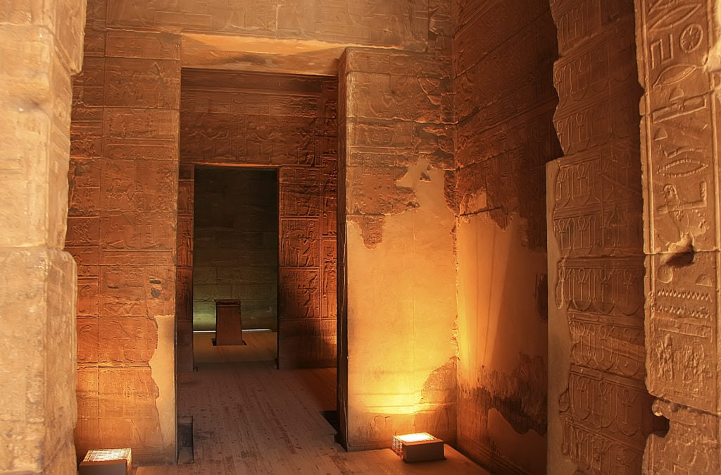 Temple of Philae Interior - Lake Nasser -  Egypt