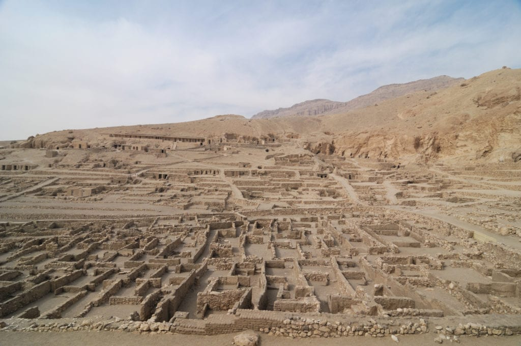 Workers' town at Deir al-Medina - Close to The Valley of Kings - Luxor-  Egyptian