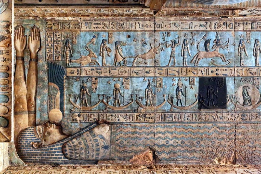 Hieroglyphic Writings - Temple of Dendera - Qena - Egypt