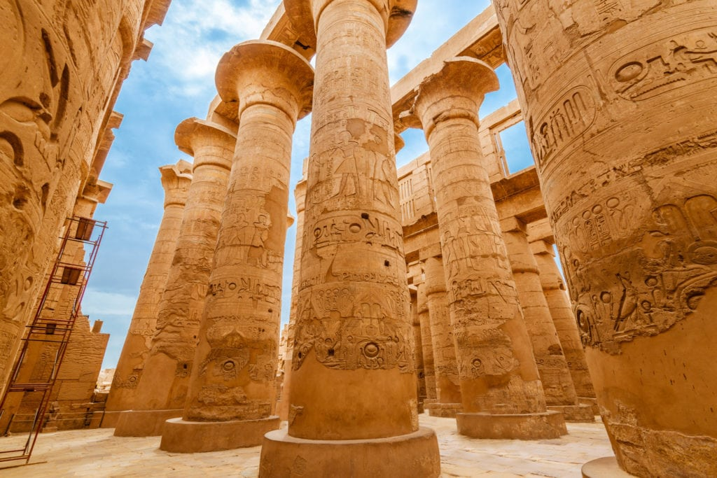 Karnak Temple Great Pillars - Luxor - Egypt