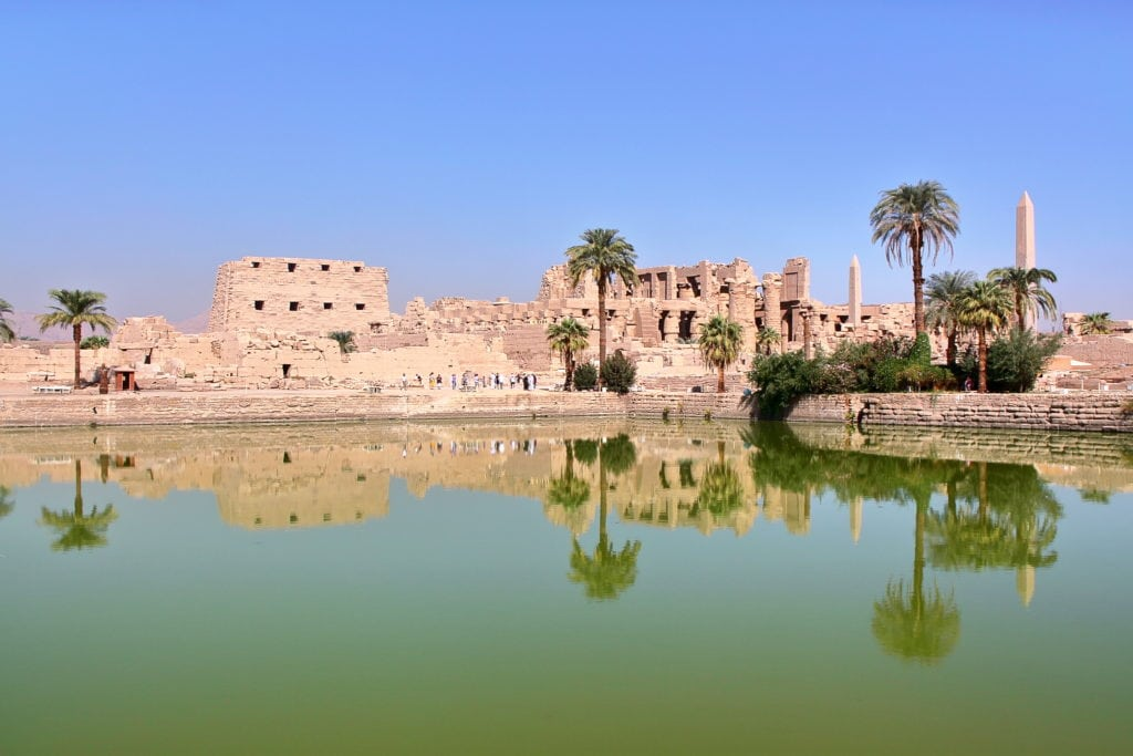 Sacred Lake at Karnak Temple that was used by priests for ritual purification washing