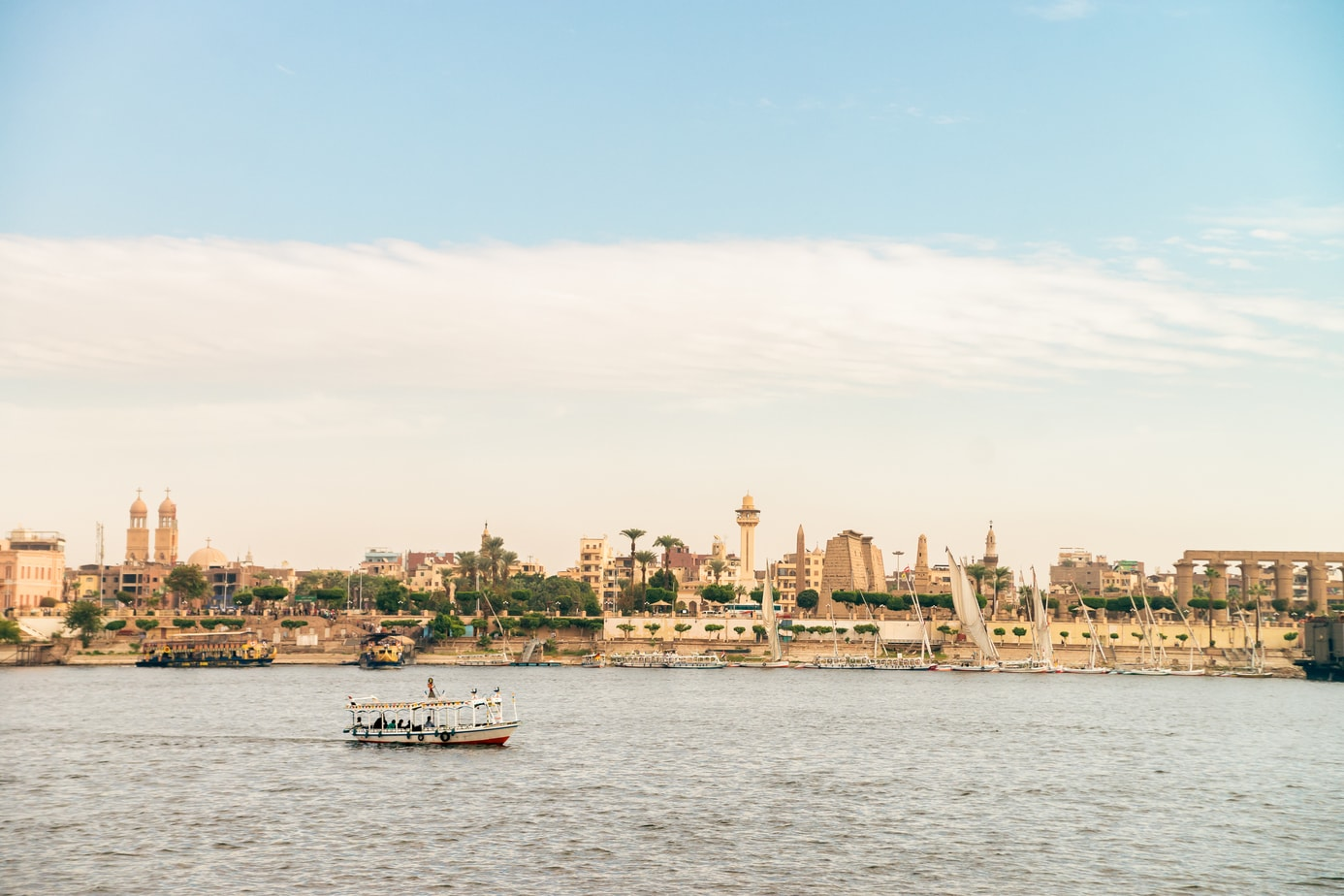 Luxor City From The Nile River
