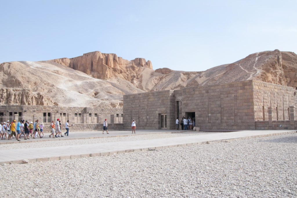 Entrance to The Valley of Kings - Luxor - Egypt